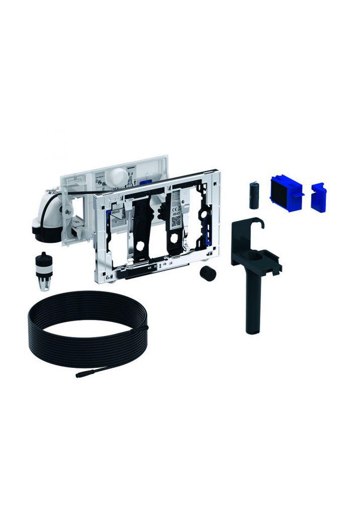 Geberit DuoFresh module met geurzuivering, toiletstickhouder en oriëntatielicht, automatische activering, geschikt voor Sigma 12cm