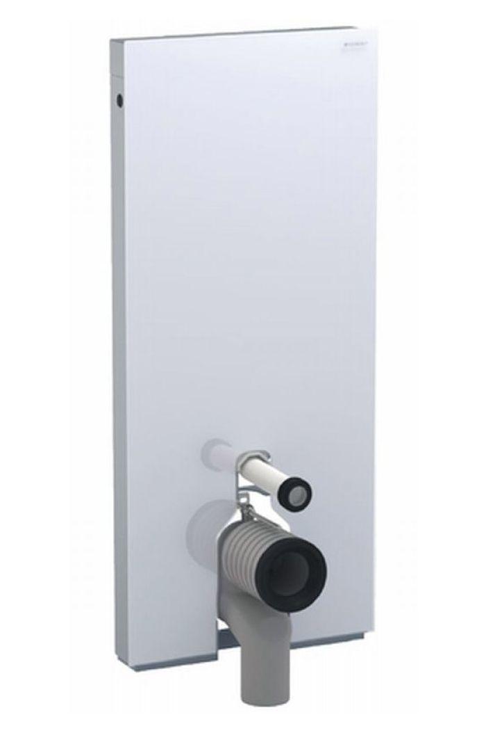 Geberit Monolith module voor vloerstaand closet glas wit-aluminium