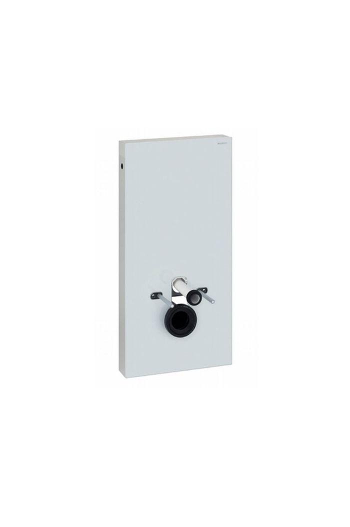 Geberit Monolith module voor wandhangend closet closet glas wit-aluminium