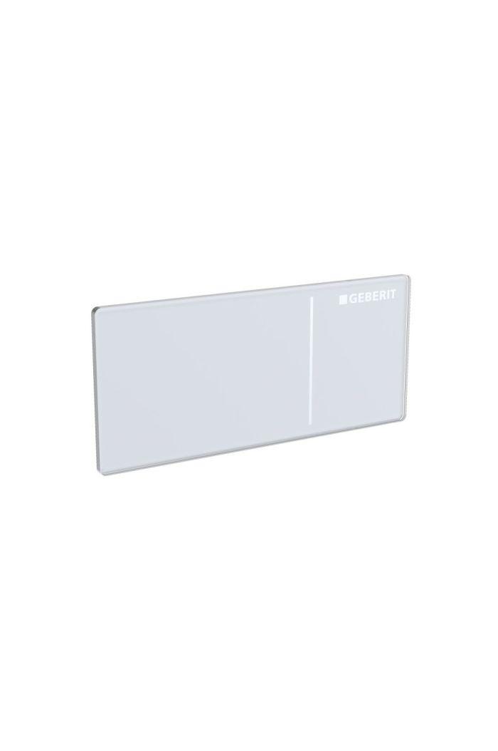 Geberit Sigma70 bedieningspaneel Wit Glas