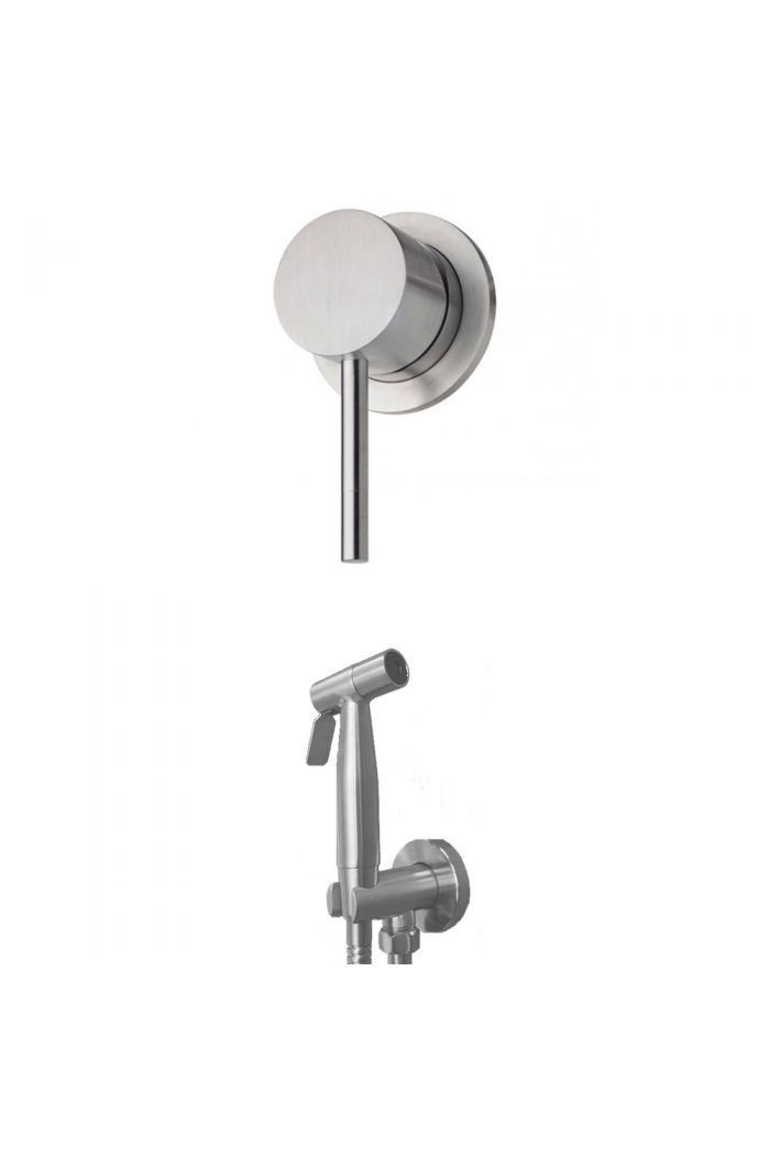 RVS Inbouw Toiletdouche Set (Warm water)